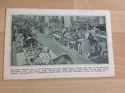 Studebaker Postcard Showing The Final Assembly Line In The Studebaker Factory