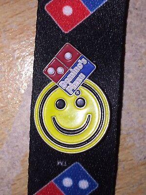 Dominos Pizza Yellow Smiley Face Pin Badge