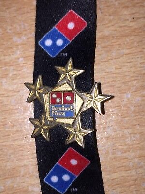 Dominos Pizza Five Star Pin Badge