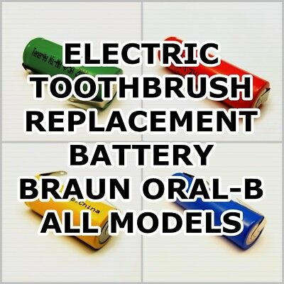 NEW REPLACEMENT BATTERY w tabs for Braun Oral-B Toothbrushes - ALL Models