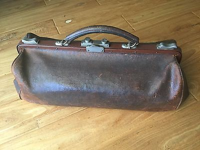 Antique Doctor Bag Leather Brown