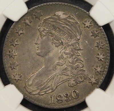 R3 (R4 candidate?) NGC XF45 1830 O-121 50C Large 0 Capped Bust Half Dollar