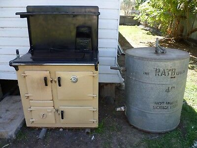 RAYBURN No 2 - Slow Combustion Stove - Complete with Water heating & tank