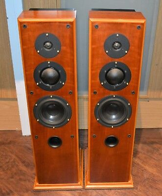 Ruark Crusader II loudspeakers in Cherry finish. (Worldwide shipping)