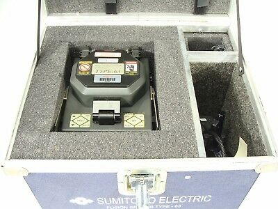 Sumitomo Mass Fusion Fiber Optic Cable Splicer Type 63 + JR-4A Jacket Remover