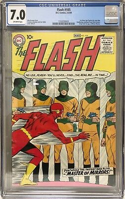 Flash #105 Cgc 7.0 1St Appearance Of The Mirror Master 1959