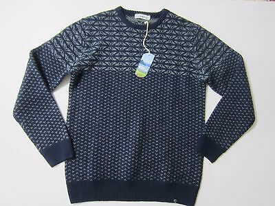 NWT men's Stormberg Barkenes Wool Sweater Size LARGE Long sleeve pullover Blue