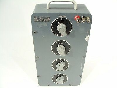 GR General Radio 1490-D 4-Dial Decade Inductor 1mH/step to 1H/step 1490D 0-11.1H