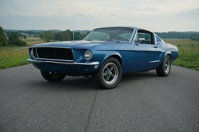 "1968 Ford Mustang  1968 Mustang Fastback S-Code GT ""Blue Bullitt"" Big Block Marti Report Restored"