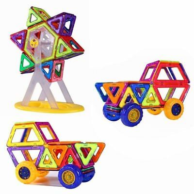 PlayMaty 74 Pieces Magnetic Blocks Building Toys Block Magnets Construction- New