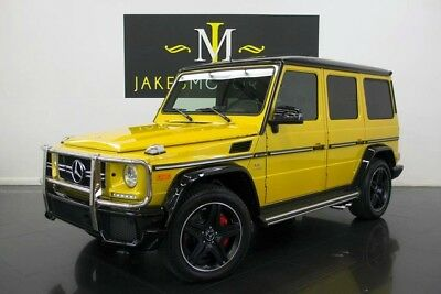 2015 Mercedes-Benz G-Class G63 AMG SPECIAL EDITION 2015 G63 AMG, SPECIAL EDITION, AMG PERFORMANCE STUDIO PKG! FACTORY PEARL YELLOW!