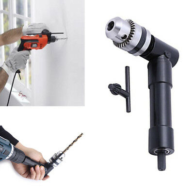 90 Degree Mini Right Angle Head Drill Motor Chuck Attachment Adapter for Drill