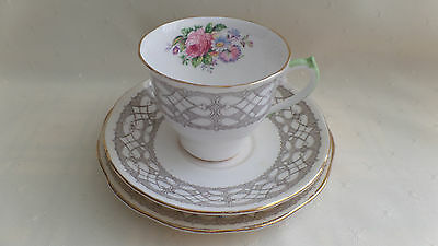 CUP, SAUCER AND PLATE SET by Salisbury Bone China - Made in England