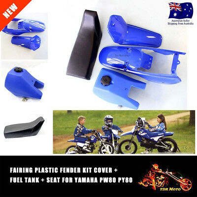 Blue Plastic/Fender/Cover & Seat & Fuel/Gas Tank For Yamaha PW80 PY80 XMAS