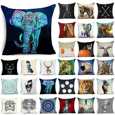 Animals Polyester Throw Pillow Case Pillow Cover Cushion Cover Home Decor NT