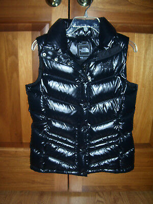 The North Face Black 700 Goosed Down Puffer Vest Women's Size Med EUC