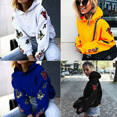 Women's Casual Hoody Hoodie Sweater Hooded Pullover Sweatshirt Jumper Coat Tops