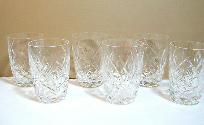 """Waterford Crystal 4"""" Tumbler, Drinking Glass, Set of Six"""
