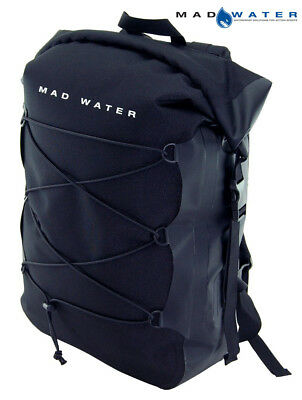 Mad Water – Classic Roll Top Waterproof Backpack, 30L, Black, M43100