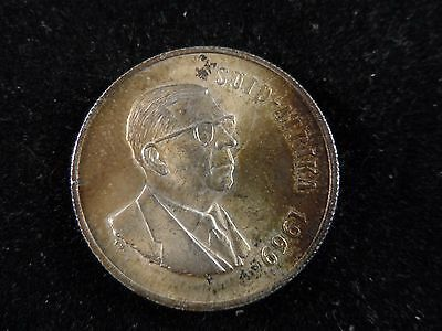 """1969 South Africa 1 Rand Silver (0..800) Coin. """"look"""" #1503"""
