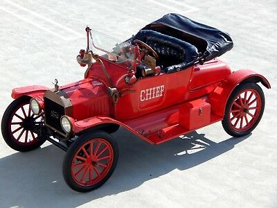 1915 Ford Model T Fire Chief Parade Car from Museum 1915 Ford Model T Fire Chief Parade Car from Museum Collection - California Car!