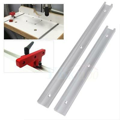 300/400mm Aluminum Alloy T-Track T-Slot Track for Woodworking Workbench Machines