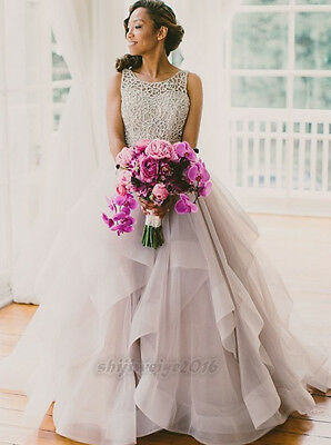New Bridal Ball Gown Wedding Dress Unique Custom Made Size 6 8 10 12 14 16 18 +