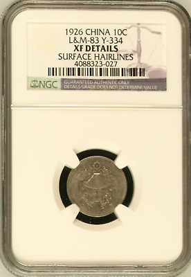 1926 China 10 Cents Ngc Xf Details