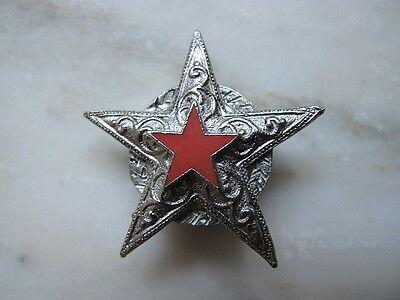 Western Cowboy Cowgirl Texas Star Button Cover Marshall Sheriff Silver Tone