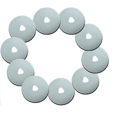 10 pack 45 mm Rotary Cutter Blades for Olfa Fiskars and others in Plastic Case