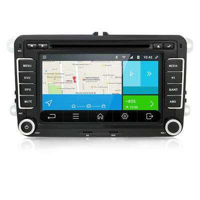 "7"" Android 7.1 GPS Sat Nav Car Head Unit Radio for VW GOLF MK5 MK6 PASSAT TOURAN"