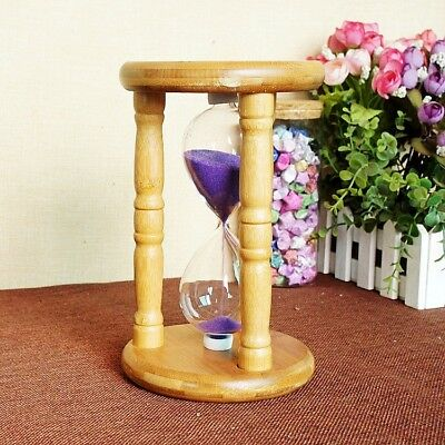 Exquisite Circular Bamboo Creative Gifts Timer Hourglass XY108