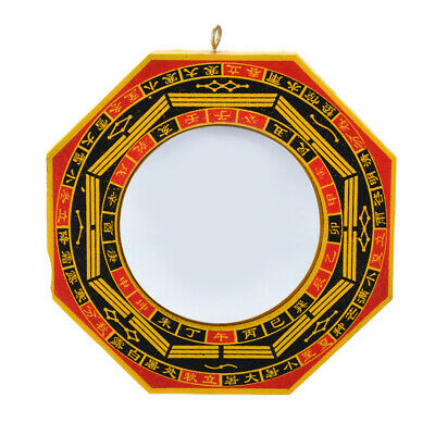 "4"" inch Chinese Feng Shui Dent Convex Bagua Mirror Blessing House Protection"
