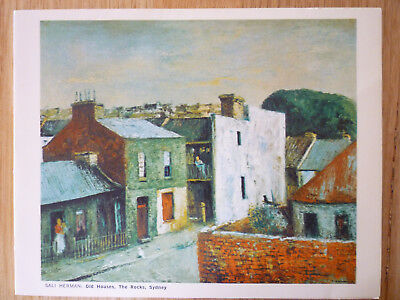 SALI HERMAN - OLD HOUSES THE ROCKS SYDNEY Pre-owned POST CARD