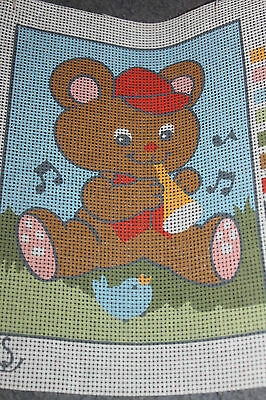 Printed unused TAPESTRY CANVAS - BEAR