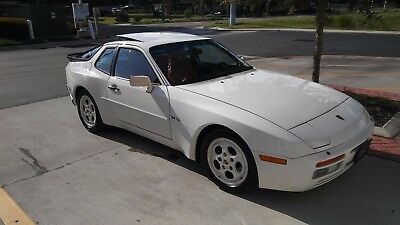 1987 Porsche 944 Turbo 1987 Porsche 944 Turbo Alpine White/Cancan Red Leather Interior