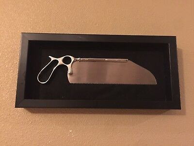 Rare Beautiful Antique/Vintage Authentic Amputation Saw In A Shadowbox Frame