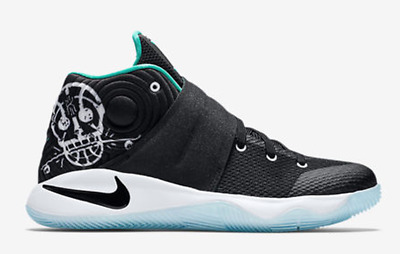 Youth Nike Kyrie 2 (Gs) Basketball Shoes Black Hyper Jade 826673-001 Size 7 Y