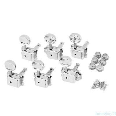 6R Guitar String Inline Tuning Pegs Locking Tuners Keys Machine Heads Chrome AU