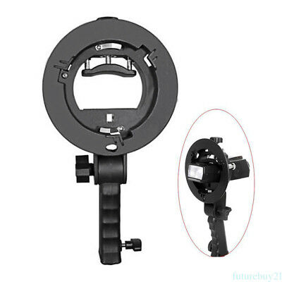 Bowens Mount S-type Bracket Holder with Handle for Flash Umbrella Softbox FY9