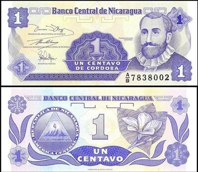 NICARAGUA 🇳🇮 1 Centavo Banknote, 1991, P-167, UNC World Currency