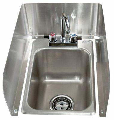 BK Resources BK-DI1014-SS After Market Stainless Steel 3 Sided Side Splash