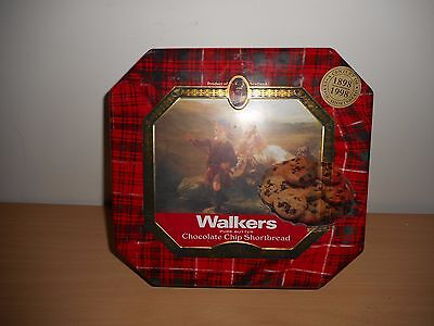 Walkers Shortbread Chocolate Chip Biscuit Tin '' Fishing In Scotland ''