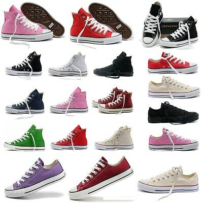 Men Womens Canvas Shoes All-Star Chuck Taylor Low Top High Top Trainers Sneakers