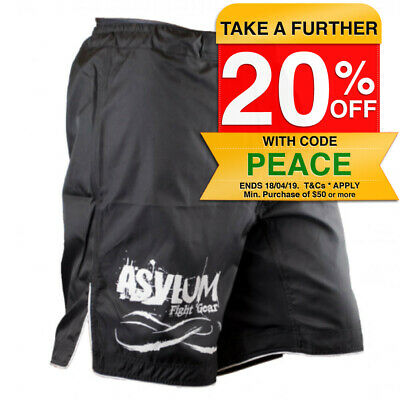 Asylum Black Shorts Size 32 Boxing/MMA/Fitness/Fighter Equipment/Fight Gear