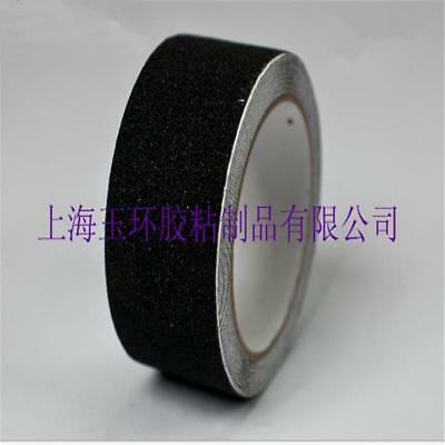 "6""x60' Safety Non Skid Grit Grip Tape Anti Slip Roll Black Sticker Adhesive -SBE"