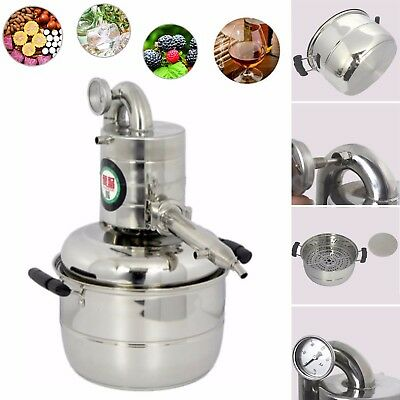 10L Stainless Home Moonshine Still Essential Oil Distiller Pure Dew Brew Kits