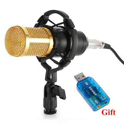 BM 800 Condenser Microphone Professional 3.5mm jack Wired Computer Microphone
