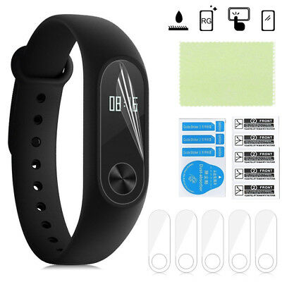 5X Anti Scratch Clear Screen Protector Film Shields For Xiaomi Mi Band 2 Tracker