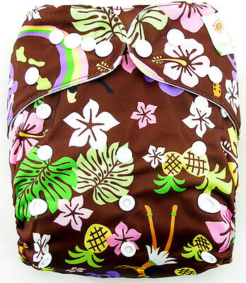 1xCute Printed Cloth Diaper Cover Reusable Nappy Covers Morning Glory OB055 02